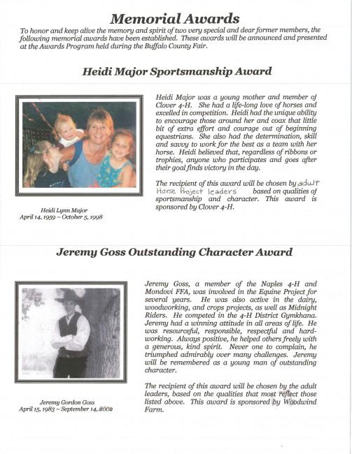 4-H Horse Memorial Awards