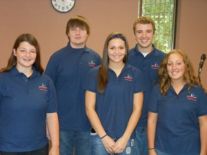 Buffalo/Pepin Teen Court Panelists proudly wear their new polo shirts displaying the new Teen Court logo.